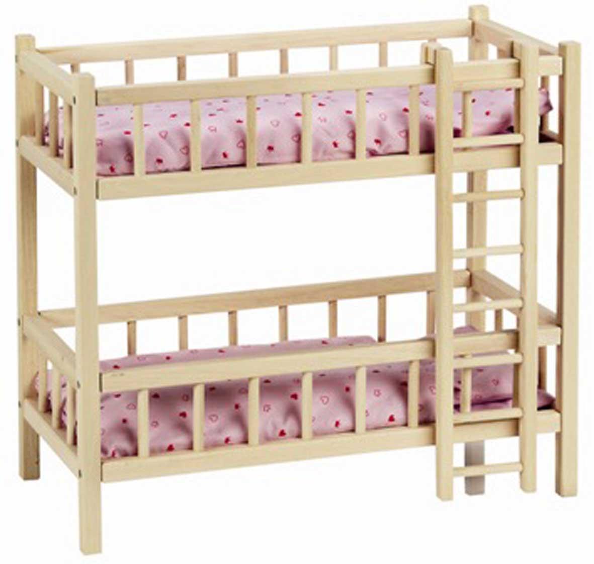 Двухъярусная кровать для кукол своими руками